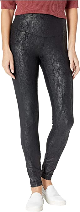 Faux Suede Reptile Signature Waistband Leggings