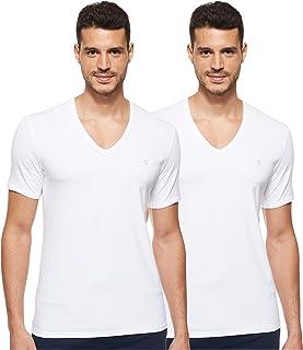 Calvin Klein mens S/S V Neck 2Pk T-Shirt