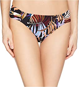 Botanical Garden Side Shirred Hipster Bikini Bottoms