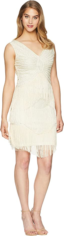 Beaded Renee Fringe Cocktail Dress