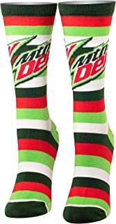 Cool Socks, Women's, Food, Pepsi and Mountain Dew, Crew, Retro Novelty Funny Silly Cute