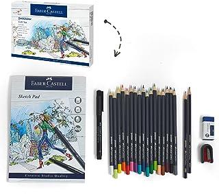 Faber Castell Goldfaber - Juego de lápices de colores con lápices de colores de madera