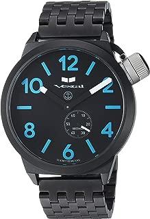 Vestal 'Canteen Metal' Quartz Stainless Steel Casual Watch, Color Black (Model: CNT453M08.7BKM)