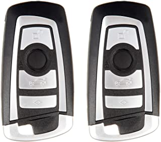 ECCPP Replacement fit for Uncut 315MHz Keyless Entry Remote Key Fob BMW Series KR55WK49863 (Pack of 2)