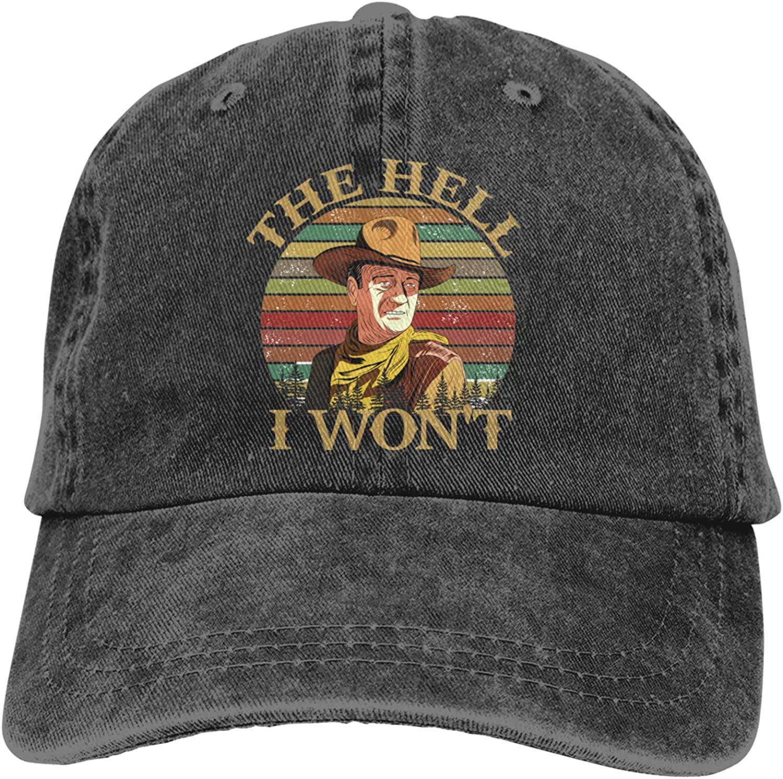 John Wayne Baseball Cap Vintage Washed Soft Cotton Adjustable Unisex Dad Hat