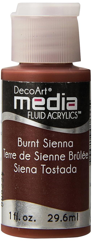 DecoArt Media Fluid Acrylic Paint, 1-Ounce, Burnt Sienna