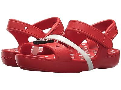 Crocs Kids Lina Minnie Sandal (Toddler/Little Kid) (Flame) Girls Shoes