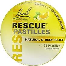 RESCUE PASTILLES, Homeopathic Stress Relief, Natural Orange & Elderflower Flavor - 35 Pastilles