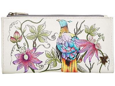Anuschka Handbags 1121 Two Fold Wallet (Himalayan Bird) Handbags