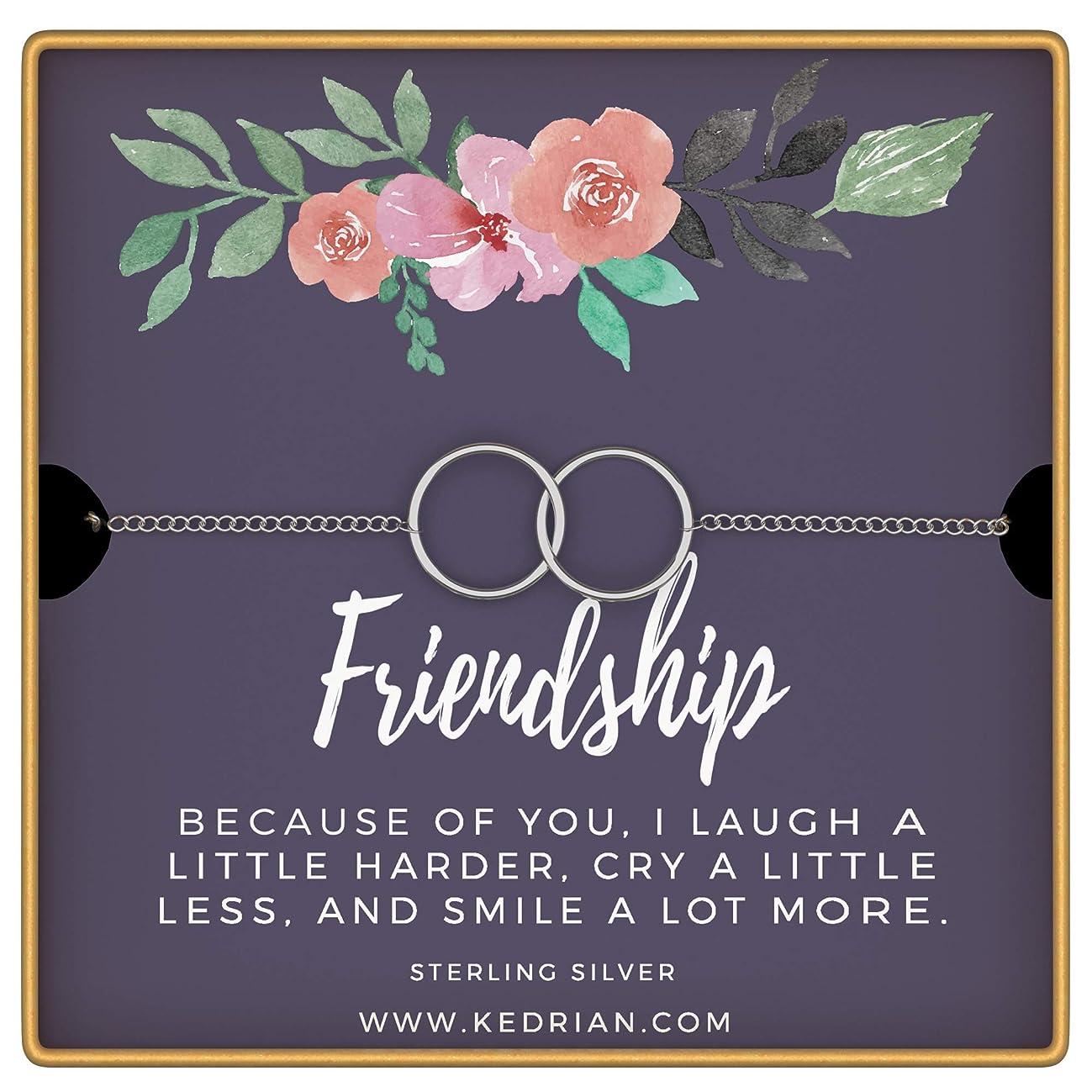 KEDRIAN Friendship Bracelet, 925 Sterling Silver, Friendship Bracelet, Best Friend Bracelet, Friendship Gifts For Women, Best Friend Gifts For Women