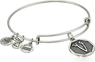 Initial Expandable Wire Bangle Bracelet, 2.5