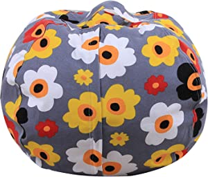 kingdom Toy Storage Bag for Kids Large Basket Box for Soft Toys  Stuffed Animals  Laundry  Bedding  Children Clothes Bean Bag Chair Declutter Your Home Stuffed Animal Organizer