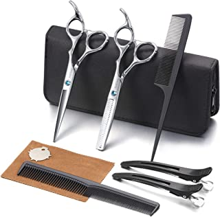 Hair Cutting Scissors Kit, Aethland Professional Barber Hairdressing Scissors Set ( Trimming Shaping Grooming Thinning She...