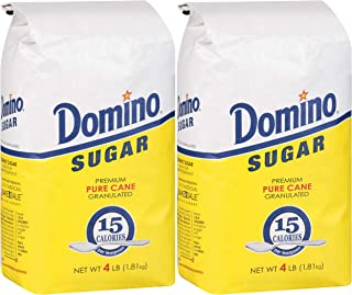 DOMINO GRANULATED PURE CANE WHITE SUGAR 4 LB BAG (2-Pack)