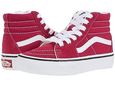 Vans Kids SK8-Hi (Little Kid) (Cerise/True White) Girls Shoes