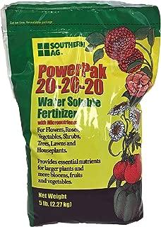 Southern Ag PowerPak 20-20-20 Water Soluble Fertilizer w/micronutrients, 5lb bag