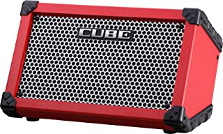 BOSS Cube Street - Amplificador de guitarra, color rojo