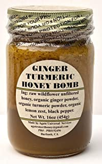 GINGER TURMERIC HONEY BOMB 16oz.