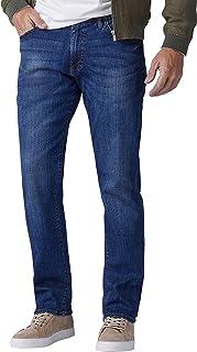 بنطال جينز اكستريم موشن من سلسلة مودرن من لي للرجال بقصة مستقيمة وارجل واسعة من الاعلى وضيقة من الاسفل