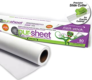 """pur-sheet PTFE Parchment PaperAlternative Terpene Proof Solvent Resistant 16"""" X 720"""" (60') (0.08mm) rolls"""