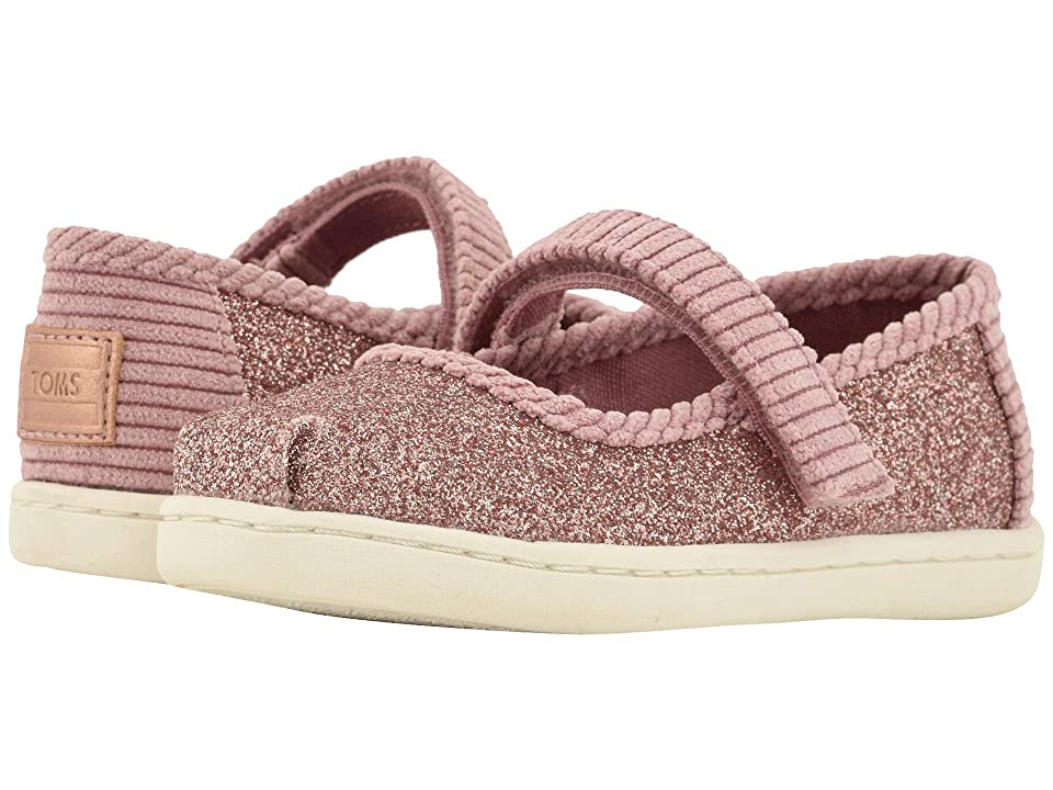 TOMS Kids Mary Jane (Infant/Toddler/Little Kid) (Rose Glow Iridescent Glimmer/Corduroy) Girls Shoes