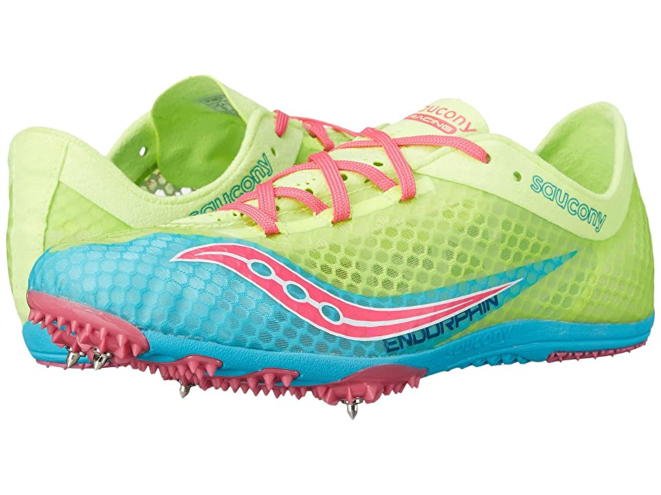Saucony Endorphin (Blue/Citron/Pink) Women