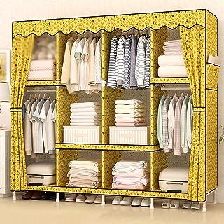 Wardrobe LI Jing Shop - Tissu Simple Tissu en Bois Massif Section Assemblage Chambre à Coucher Maison Armoire Armoire Pole...