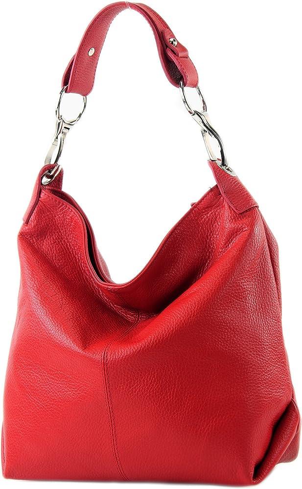 Modamoda de, borsa a mano/ tracolla per donna, in pelle T168R_afn