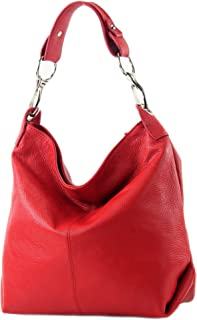 modamoda de T168 - ital Schultertasche Umhängetasche aus Leder