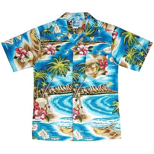 d05b82162 RJC Boys Hibiscus Hawaiian Island Shirt