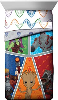 Marvel Guardians of the Galaxy 2 Outlaws Twin Comforter - Super Soft Kids Reversible Bedding features The Guardians - Fade Resistant Polyester Microfiber Fill (Official Marvel Product)