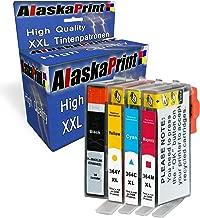 Alaskaprint 364XL Cartuchos de Tinta Compatible para HP 364 con HP Photosmart 5510 5520 5522 6520 B8550 C5388, HP Officejet 4620, HP Deskjet 3070A 1XNegro, 1XCian, 1Xmagenta, 1XAmarillo