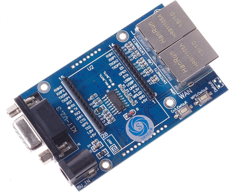 SMAKN Uart-WiFi Module Serial WiFi SCM WiFi HLK-RM04 Simplify The Test Board RS232 5V