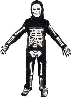 MONIKA FASHION WORLD Skeleton Costume for Boys Kids Light up Size M (5-7) L (6-9) (6-9)