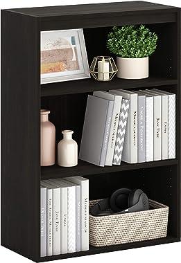 Furinno Pasir 3-Tier Open Shelf Bookcase / Bookshelf / Storage Shelves, Espresso