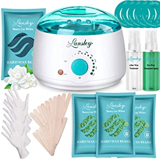 ILansley Waxing Kit for Women Men Coarse Hair Removal with Moisturizing Aloe Formulas..