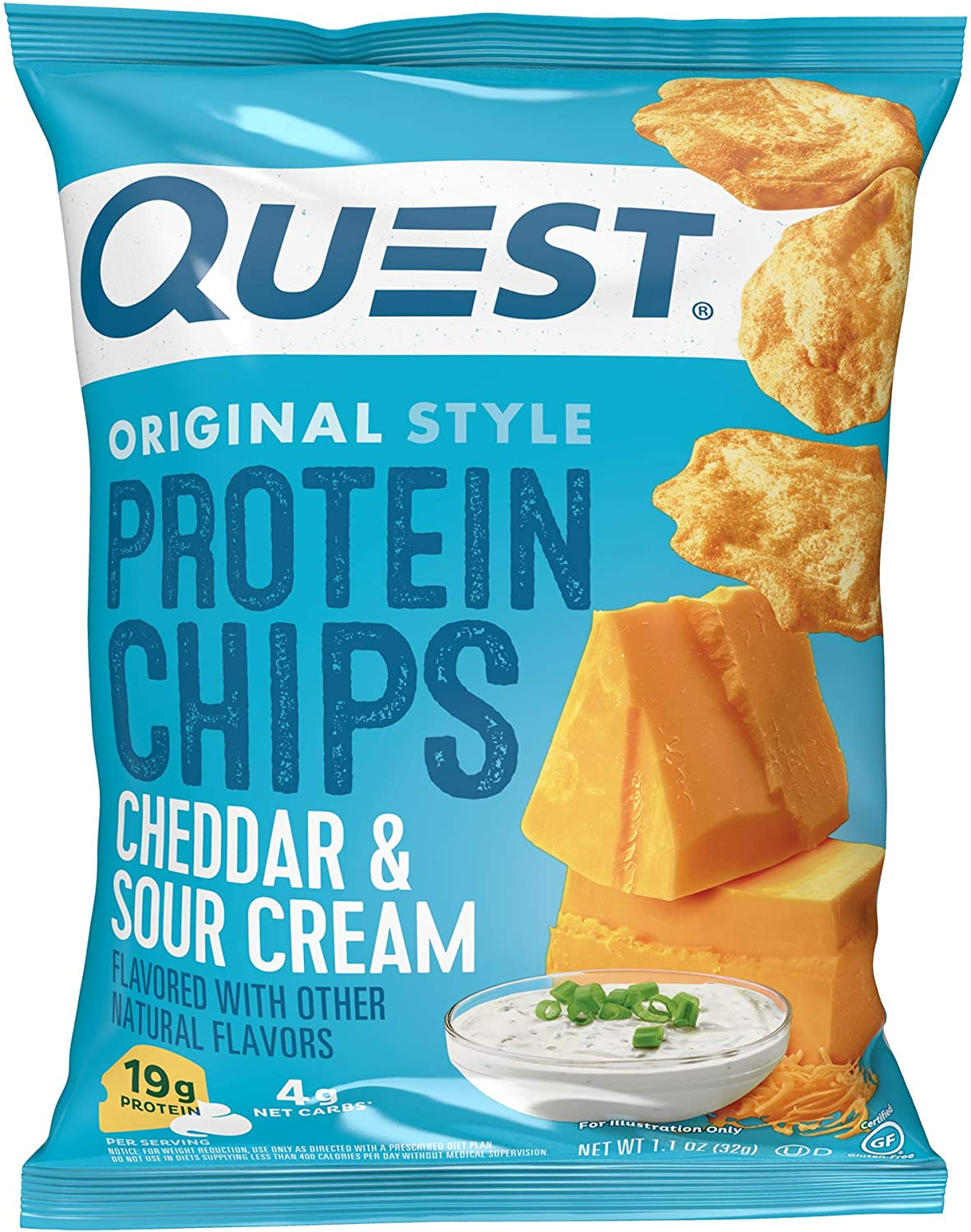 Quest Nutrition Protein Chips 67% OFF of fixed price Cheddar Cream Sour of 12 Pack 5 popular