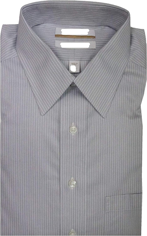 Gold Label Roundtree & Yorke Non-Iron Regular Point Collar Stripe Dress Shirt G16A0008 Grey Multi