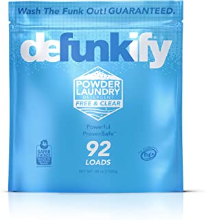 Defunkify Powder Laundry Detergent, Free & Clear - EPA Safer Choice Certified - For Activewear & All Laundry - 92 Loads (5...