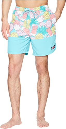 Vineyard Vines - Tropical Drink Pieced Chappy Swim Trunk