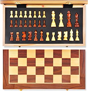 aGreatLife Wooden Chess Set: Universal Standard Board Game for All Ages