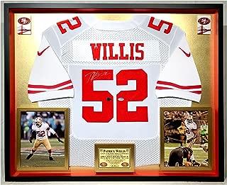 Premium Framed Patrick Willis Autographed/Signed San Francisco 49ers Nike Elite Jersey - PSA COA