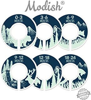 Modish Labels Baby Nursery Closet Dividers, Closet Organizers, Nursery Decor, Baby Boy, Woodland, Tribal, Woodland Animals, Bear, Fox, Deer, Navy Blue, Mint