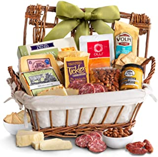Gourmet Cheese & Meats Hamper Gift Basket