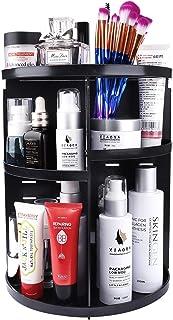Maquillage de Organisateur, Rotatif 360 Degrés Rangements pour Produits Cosmétiques Bijoux Présentoir, Réglable Vanity Org...