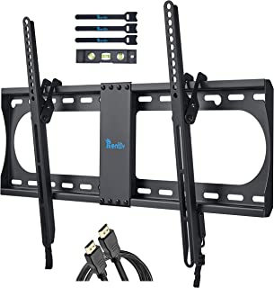 """RENTLIV Tilting TV Wall Mount Bracket for Most 32-70 Inches TV, TV Mount with MAX VESA 600x400mm, Loading Capacity up to 132 LBS, fits for 16"""" 18"""" 24"""" Wood Studs, Low Profile and Space Saving"""