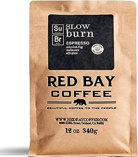Red Bay Coffee Slow Burn Espresso Coffee Beans | Dark Roast Coffee Beans | Whole Bean Coffee | Blend of Brazilian Coffee & Sumatra Coffee Beans | 12oz Bag of Whole Bean Espresso Coffee