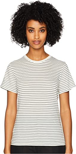 Pencil Stripe Short Sleeve Crew