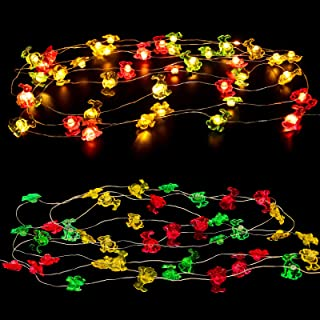 10Ft 40Lights Easter Decoration Lights Battery Operated, Impress Life Rabbit Bunny Festive LED String Lights with with 8 F...