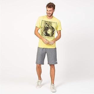 Camisa T-shirt Amarela Vinyl Casual
